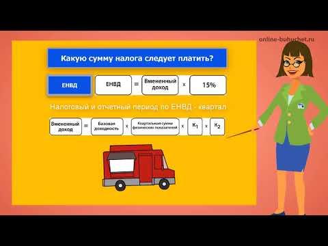Единый налог на вмененный доход (ЕНВД). Инфографика