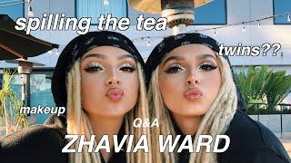 ZHAVIA DOES MY MAKEUP | Q&A (doppelgängers !!)