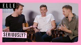 'BEST INTERVIEW EVER!' | Mamma Mia 2 Cast | Jeremy Irvine, Hugh Skinner, Alexa Davies