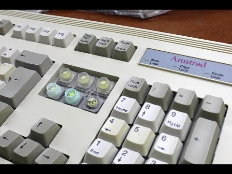 Amstrad KB7 keyboard review 9 (BTC foam and foil, tactile)
