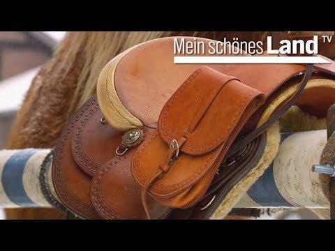 Sattler - der Beruf für Pferde-Liebhaber - Sattlerin Neomi fertigt eine Satteltasche