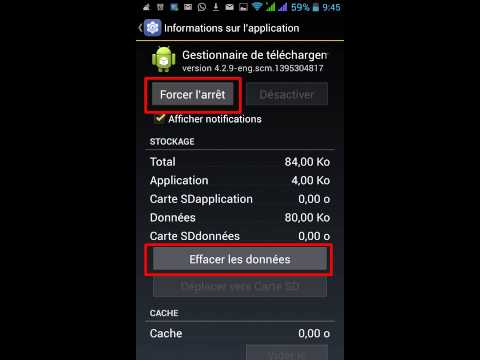 comment reparer android