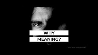 Why does my life need Meaning?