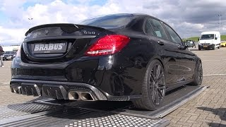 BRABUS 650 4.0 Biturbo V8 C63 S AMG! Start, Revs, Overview!