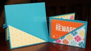FUN FOLDS Easiest Ever Gift Card Holder With Kelly Gettelfinger