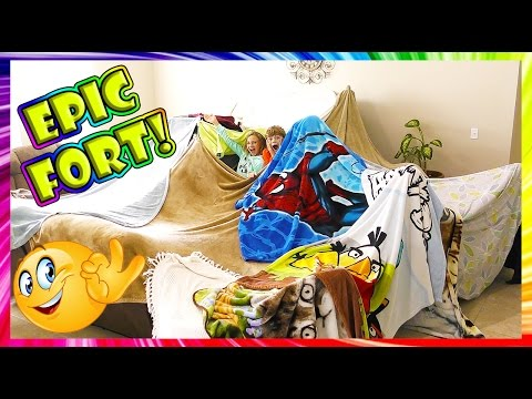 OUR EPIC BLANKET FORT! | We Are The Davises