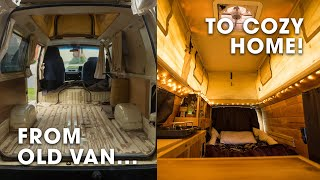 I Converted This Old Van Into My Cozy Home And Office On Wheels! (Campervan Conversion & Tour)