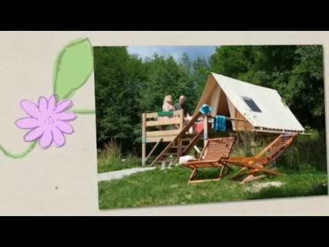 Hebergement insolite - tente Robinson - Camping Fougeraie dans le Morvan