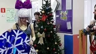 Новогодний праздник с аниматорами Бамблби, куклами Лол, Дедом Морозом и Снегурочкой.