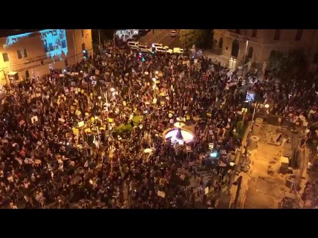 מאות בהפגנות השמאל נגד ראש הממשלה בנימין נתניהו
