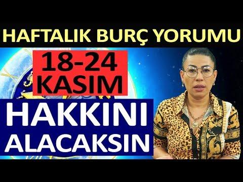 18-24 Kasım Haftalık Burç Yorumları - Nurcan Vecigün