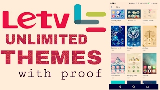 How to download unlimited THEMES on  LeEco Devices. OFFICIAL METHOD