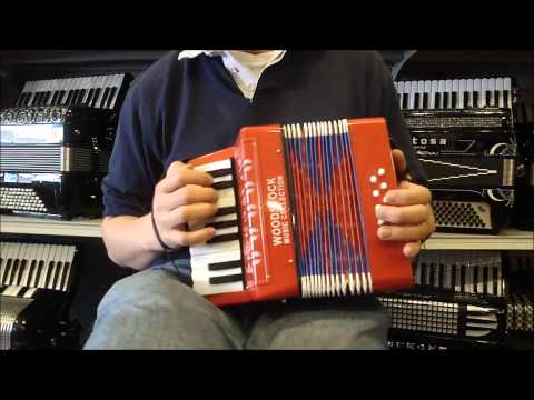 WDTOYPA8R - Red Woodstock Toy Piano Accordion M 17 8 $40