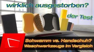 Waschschwamm vs. Microfaser Waschhandschuh - Autopflege mit Schwamm gefährlich für Lack?