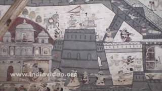 Murals of Lakshmi Narayana temple, Orchha