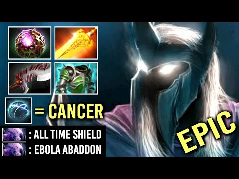 EPIC Non-Stop Shield Super Carry Abaddon Octarine Core Build vs Hard Team Crazy Gameplay WTF Dota 2