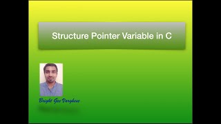 Structure Pointer Variable in C