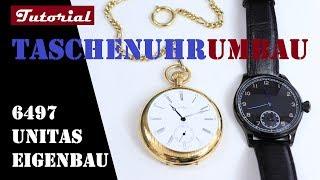 Taschenuhr Umbau | Uhr selber bauen | Tutorial | Eta Untias 6497 / 6498 | #DIY_Uhrenbauer
