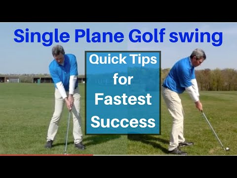 Converting to the Single Plane Golf swing – free tips – Easier golf swing