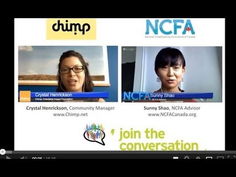0 - Google Hangout with Chimp: Charitable Donations and Crowdfunding
