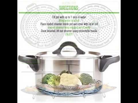 Premium Vegetable Steamer Basket - Large - 6.4-10.3