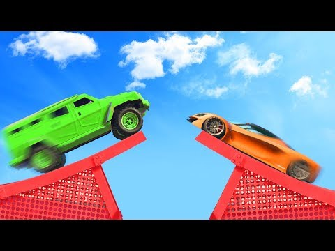 SMASH THE CARS MID AIR! (GTA 5 Funny Moments)