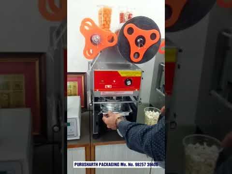 Semi Auto Popcorn Glass Packing Machine
