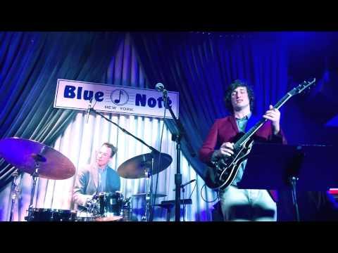 Connor performing at the Blue Note with guitar legend Vic Juris and Kosovo jazz phenom, Taulant Mehmeti!