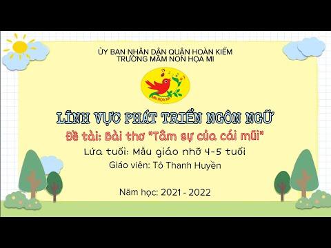 """Cô giáo Tô Thị Thanh Huyền - Trường mầm non Họa Mi hướng dẫn bé học bài thơ """"Tâm sự của cái mũi"""""""