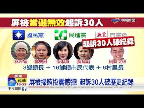 """屏東又爆賄選風波! 30人遭提""""當選無效""""破紀錄│中視新聞 20190102"""