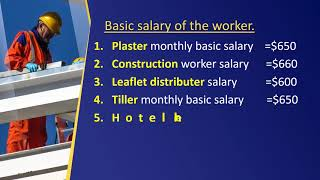 plaster, construction worker, hotel helper, driver salary in Poland