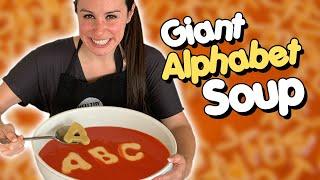 DIY GIANT Alphabet Soup 🥣🥫• Versus