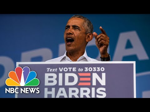 Obama Slams Trump's Behavior, Says Biden Will Be 'Normal President' | NBC News