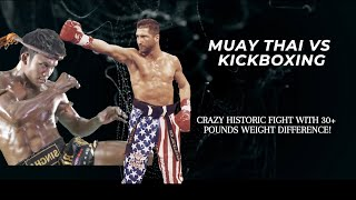 Muay Thai vs Kickboxing: 30 Pound Difference Epic Fight