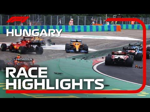 F1第11戦ハンガリーGP(ブタペスト)の決勝レースのハイライト動画