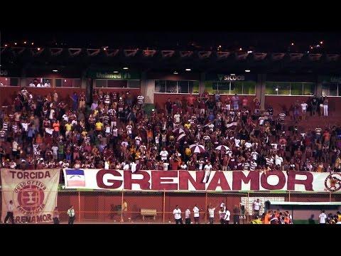 """Torcida Grenamor faz linda festa após o apito final (15/4/2015)"" Barra: Grenamor • Club: Desportiva Ferroviária"