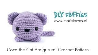 Coco The Cat Amigurumi Crochet Tutorial English