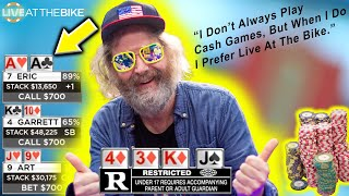 The Most Interesting Man in Poker ♠ Live at the Bike!