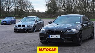 [Autocar] Affordable BMW M-car drag race | E92 M3 vs F10 M5 vs Birds M135i