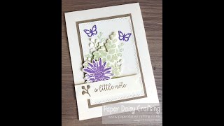 """""""A Little Note"""" just because card using Positive Thoughts Video Tutorial"""