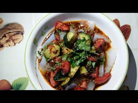 Салат Лян-пун(Острый салат с крахмалом) +Соус
