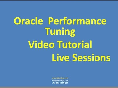 Oracle Performance Tuning Training Tutorial Video | Oracle Sql