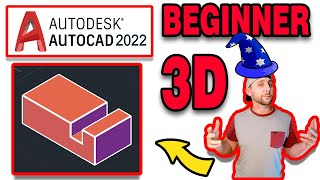 Introduction to AutoCAD 2020 - 3D Basics - #1 - the 3D1 drawing!