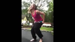 Girl's pants fall down!