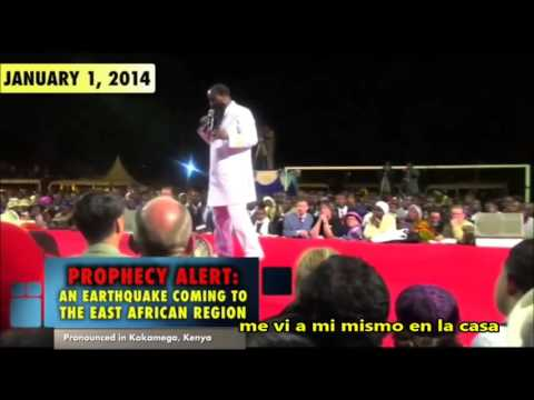 Terremoto en la parte Este de Africa SE CUMPLE!! Profeta Dr. David Owuor