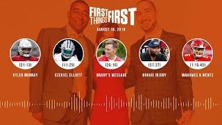 First Things First Audio Podcast(8.16.19) Cris Carter, Nick Wright, Jenna Wolfe | FIRST THINGS FIRST