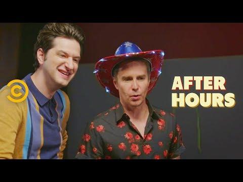 Sam Rockwell and Ben Schwartz Almost Kill Josh - After Hours with Josh Horowitz (видео)