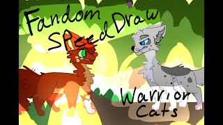 Warriors Cats Speed Draw//Fandom Drawing