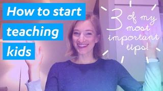 How to start teaching kids English - #1