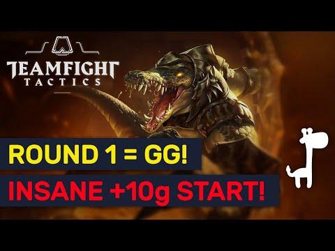 ROUND 1 = GG?!! INSANE Gold RNG ★★★ Hyper Roll! | TFT | Teamfight Tactics